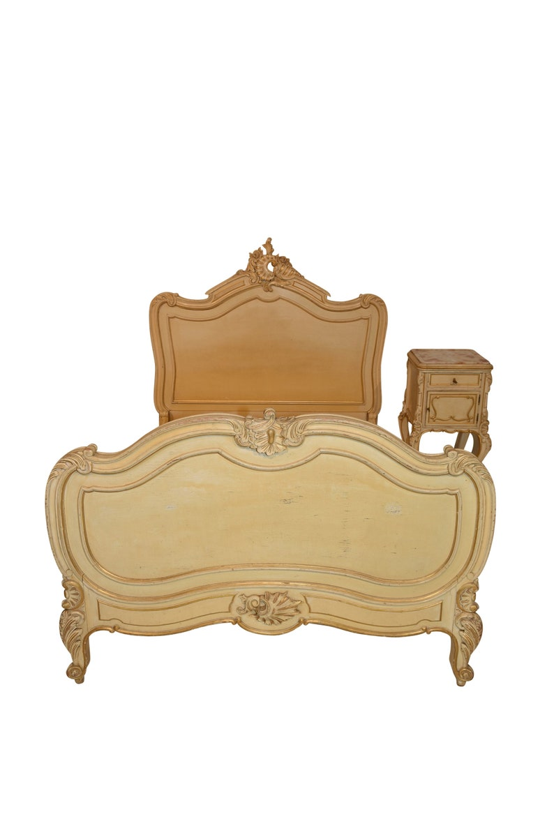 fc899a01a34e Lovely Value Priced Antique French Bed   Nightstand Late 19th