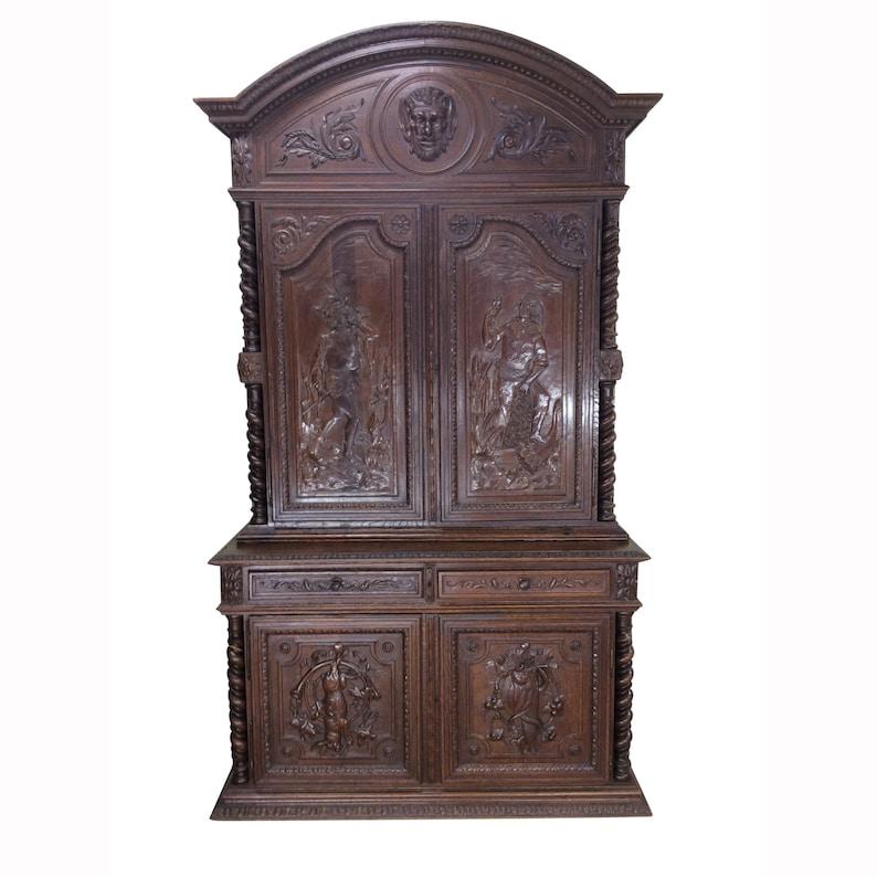 Tremendous Impressive Antique Hunt Cabinet Or Can Convert To Gun Cabinet 19Th Century Sku 9869 Download Free Architecture Designs Scobabritishbridgeorg