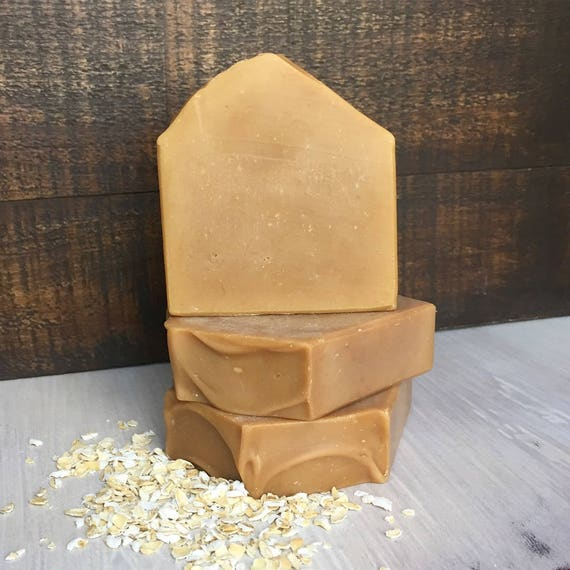 Lait de chèvre au lait Soap - savon avoine - chèvres - savon naturel - huile essentielle - sensible Soap - savon doux - Calendula bio - avoine