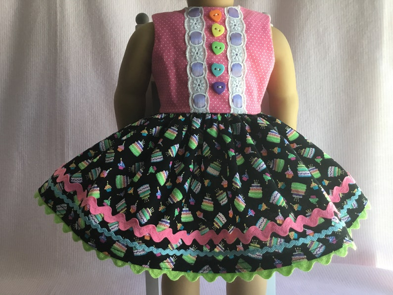 Fantastic Birthday Cake Dress Fits My American Girl Doll And My Other Etsy Personalised Birthday Cards Paralily Jamesorg