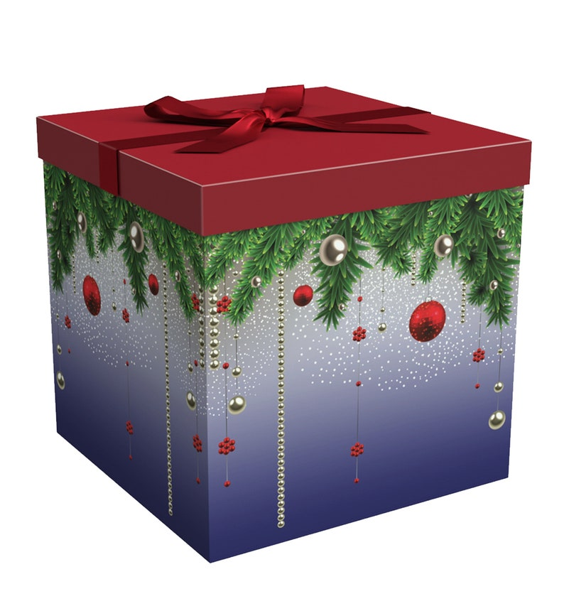 Christmas Gift Box Gift Box With Lid Gift Ideas Silent Etsy