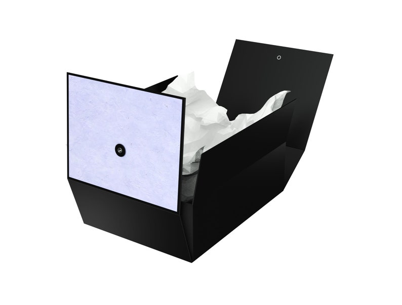 Greeting Card and Tissue Paper Included No Glue or Tape Required Large Gift Box with Lid Lilac Karma 12x9x4 Decorative Box with Tassel