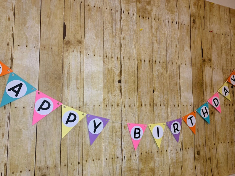 Colorful Birthday Decor Candy Birthday Banner Bubble Gum Birthday Banner