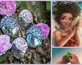 Heart of Te Fiti Necklace Moana Disney Necklace Heart of Te Fiti necklace by Vaiana Heart of Te Fiti in clay Heart of Te Fiti in Fimo