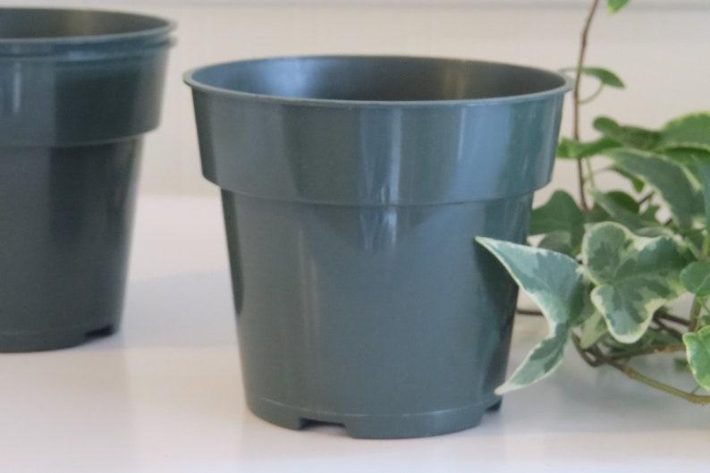 seed starting 4 plastic pots plant pots 30 Nursery pots gardening supplies garden supplies planter planters green nursery pots