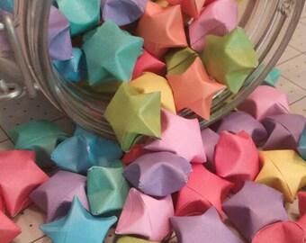 50 rainbow origami stars