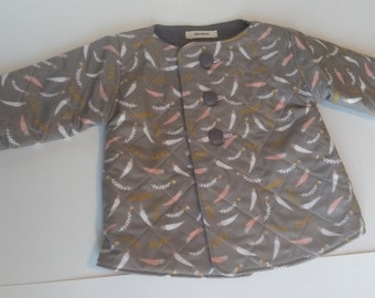 Girls Gray Quilted Toddler Jacket