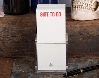 Shit to do - Letterpress to do list - Letterpress Notecard Set - Letterpress notecards - Don't forget