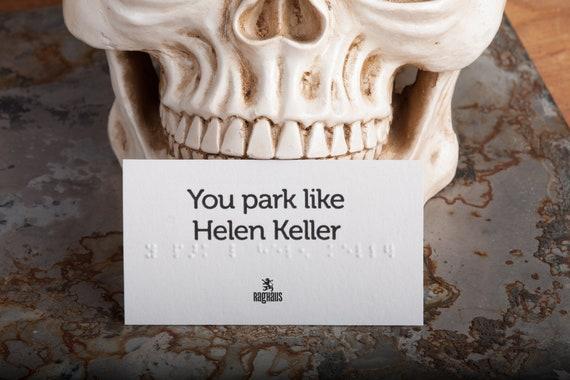 Conversation Carte Serti De Braille Parc Vous Comme Helen