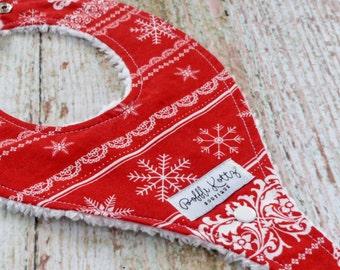 Christmas Bibs - Baby Bibs - Baby Girl Bibs - Binkie Bibs - Nordic Binkie Bib - Binky Bibs - Paci Clip Bibs - Stocking Stuffer - Baby Gift