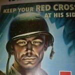 WWII Red Cross Poster, reprint, xerox, thick paper/card stock, tabloid size