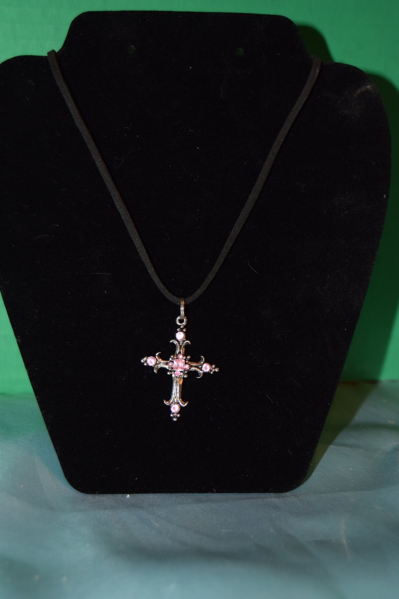 Ornamental Cross with a braided necklace and an adjustable image 0