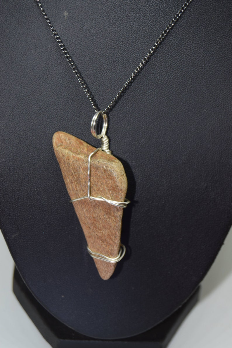 Triceratops Bone Fragment necklace  Cretaceous Period 66 to image 0