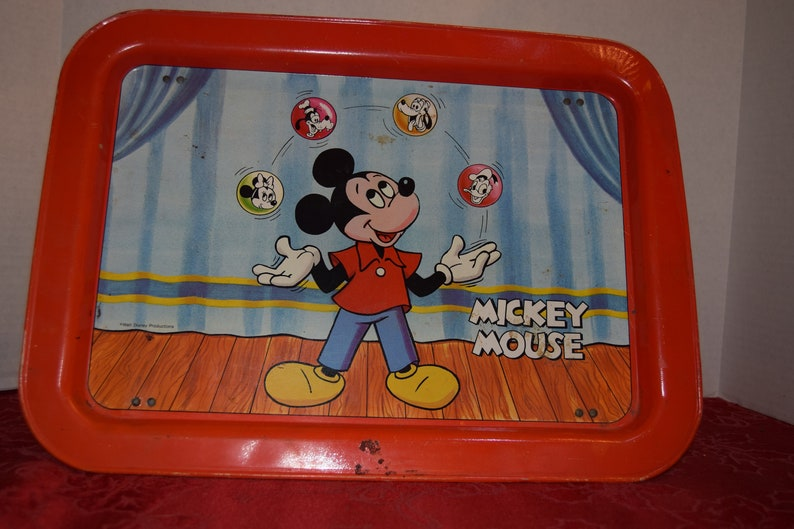 1960's Juggling Micky Mouse TV Tray  image 0