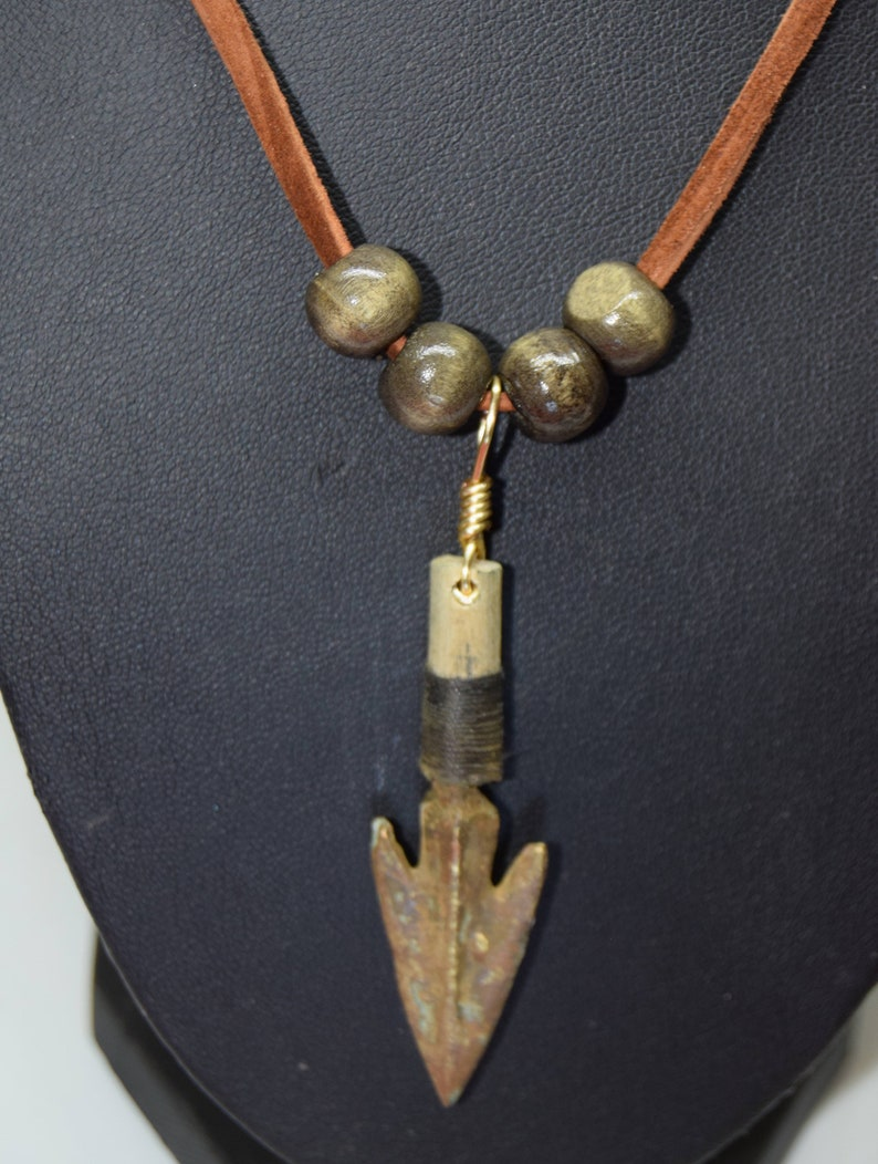 Greek arrowhead necklace    8th Century BC  Mounted on a cut image 0