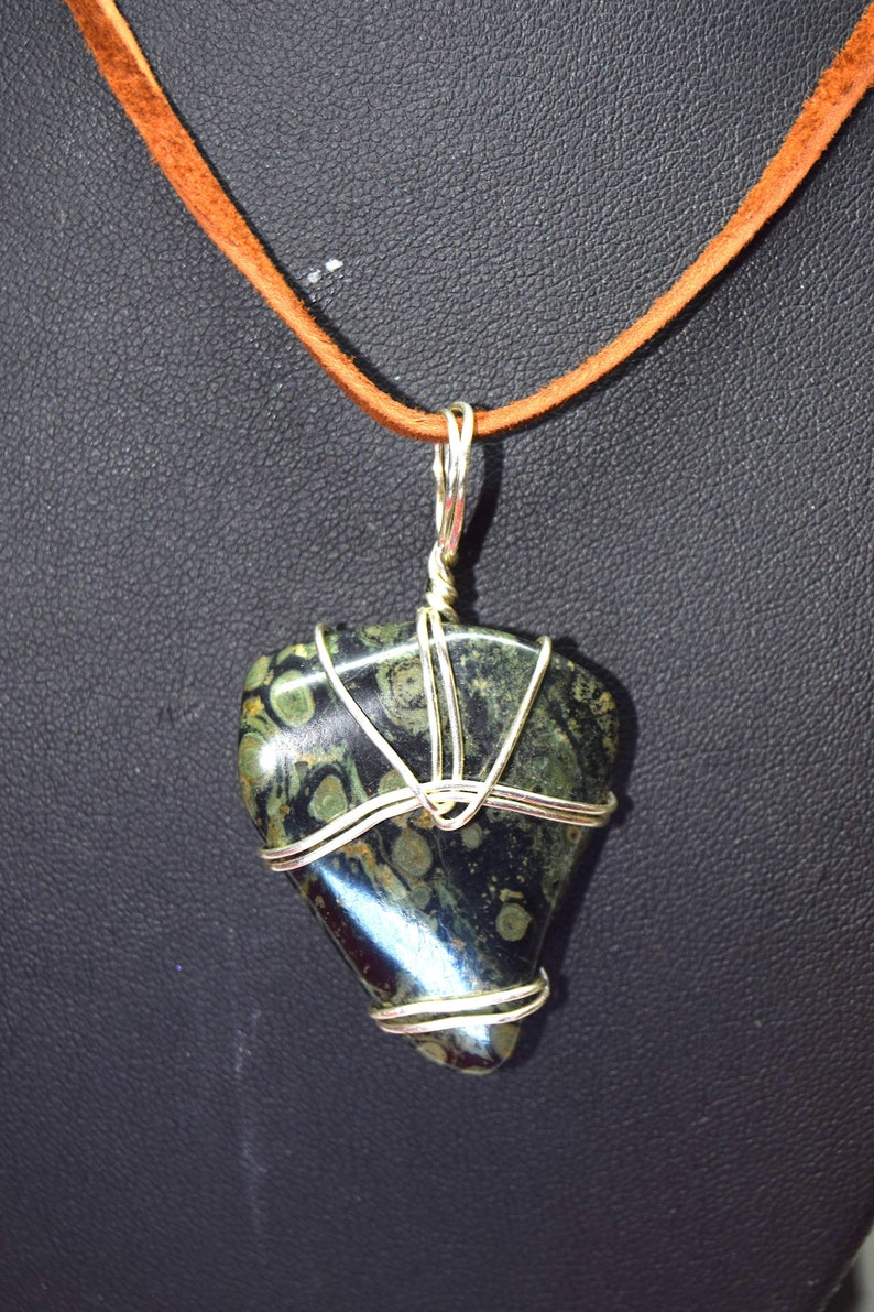 Fossilized Green Blue Algae Necklace  dates to 2 billion image 0