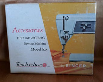 Singer Attachments, Model 625 Delux Zig Zag Sewing Machine Touch and Sew
