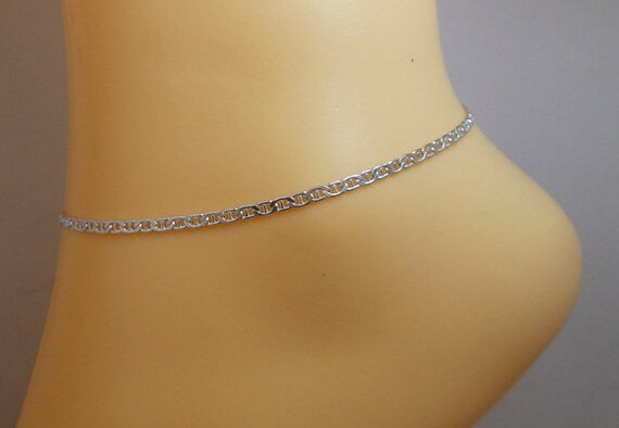 925 Sterling Silver 0.5mm Anklet Ankle Beach Chain Bracelet Fine Jewelry Gifts For Women For Her