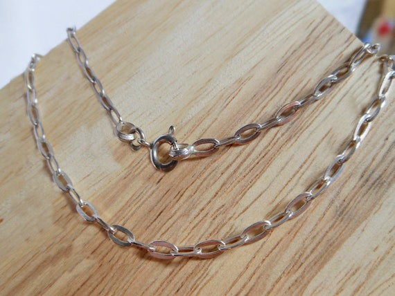 na Anklet Sterling Silver 925 Oval Cable Chain with Dangle Charm