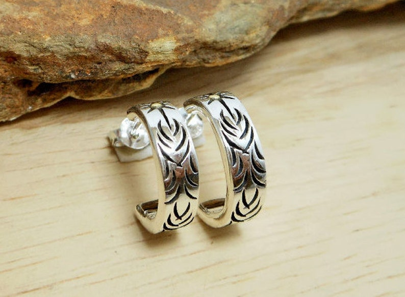 26914cf6bf915 Mens Hoop Earrings, Silver Earrings, Handmade Earrings, Artisan Earrings,  Stud Earrings, Mens Jewelry, Gifts For Him, Holiday Gifts, E446