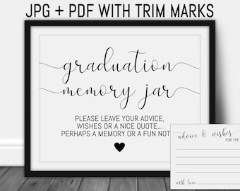 photograph about Free Printable Graduation Advice Cards named Assistance for graduate Etsy