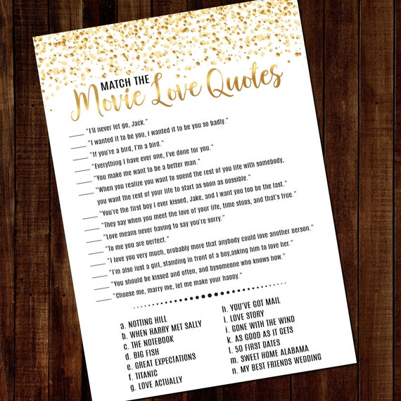 match the movie love quotes hen party movie love quotes
