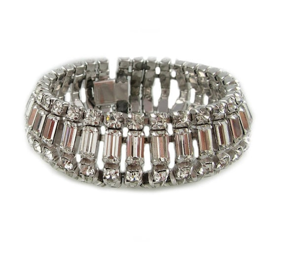 Vintage Sherman Crystal Bracelet