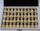 US SELLER 40 Mini Gemstone Bottles Chip Crystal Healing Tumbled Gem Reiki Wicca Stones Set