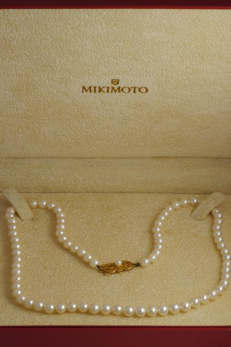 7a9e0c64f69e2 Authentic Mikimoto 5-5.5mm Cultured Akoya Pearl Strand Princess Length  Necklace