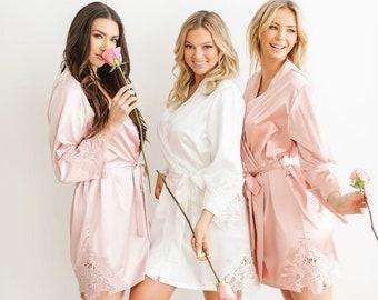 Pink Bridesmaids RobeBridesmaids RobePink and Navy Bridesmaid RobesPink Bridal RobeCotton Pink Bridal Party RobesSuzanne/'s Garden.