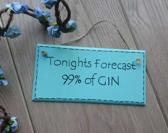 Funny gin quote | Etsy