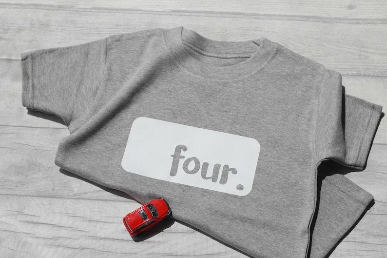 4th Birthday Tshirt Fourth Birthday Outfit Short Sleeve image 0