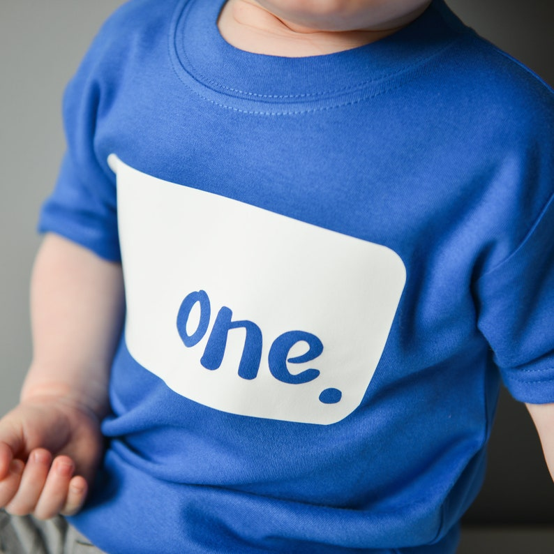 1st Birthday TShirt Kids Birthday Top First Birthday Outfit image 0