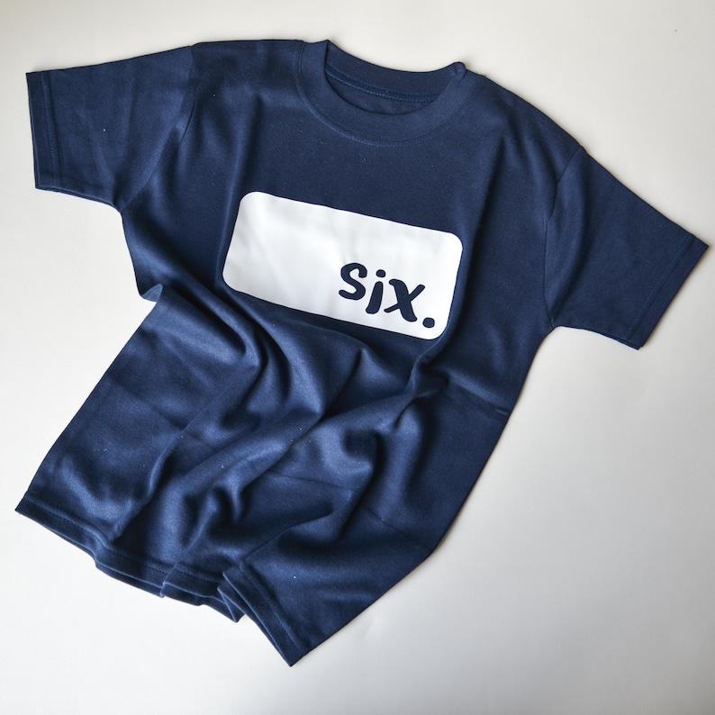 6th Birthday Tshirt Sixth Birthday Outfit Birthday Present image 0
