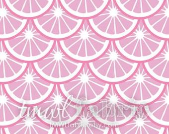 Woven Fabric - Pink Dust Lemon Slices - Fat Quarter Yard +