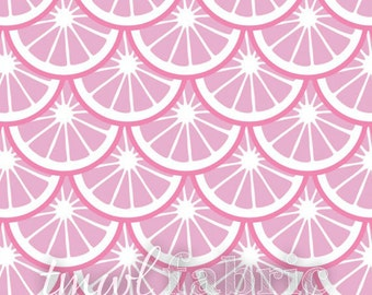 Woven Fabric - Pink Dust Lemon Slices - Fat Quarter Yard +