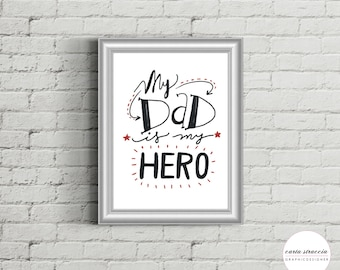 Poster - My Dad is my hero
