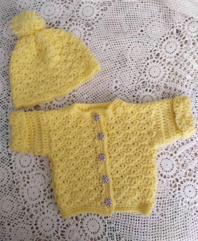 Baby Jacket and hat Newborn Gift Baby Shower Gift