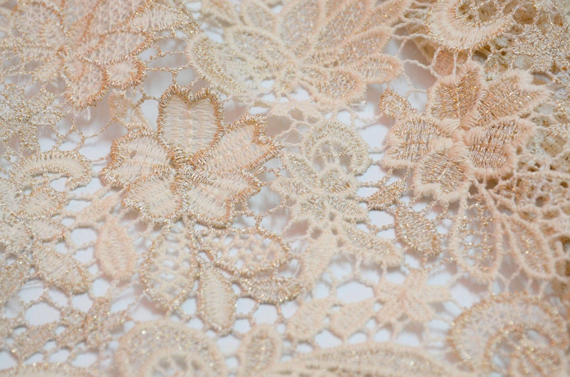 encaje de guipur de algodón de lujo con telas de encaje de | Etsy