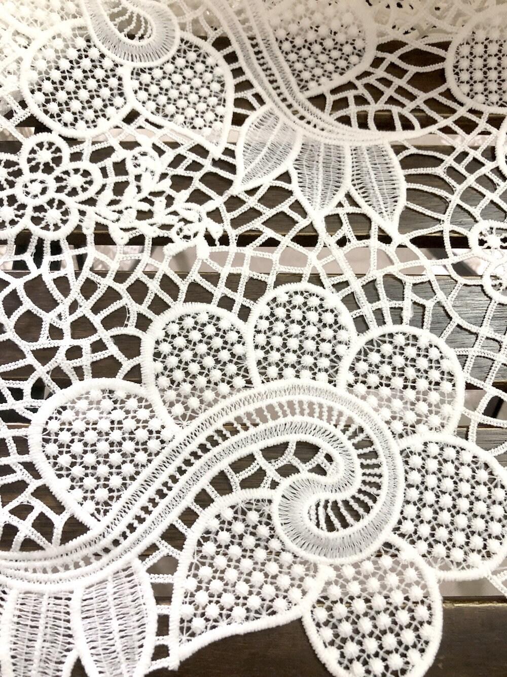 Tissu de dentelle guipure, broderie élégante broderie guipure, de fleur de Guipure, dentelle chimique 39ff3b