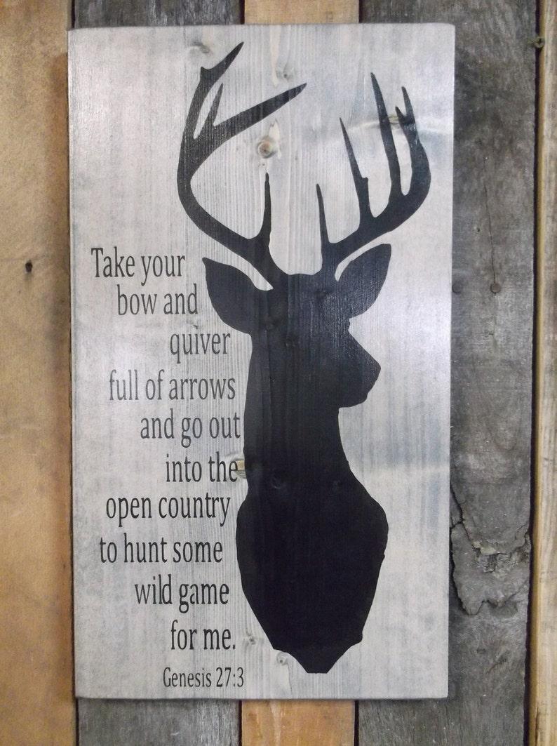 Deer Painting, Deer Hunter Bible Verse, Man Cave Sign, Large Primitive  Sign, Gift For Deer Hunter, Wall Decor