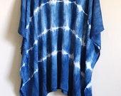 Cotton kimono, maternity shirt, swimsuit cover up, unique gifts, summer kimono, Tie Dye kimono, summer dress, festival clothing, boho poncho