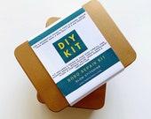 Boro stitch kit, mend your jeans kit, Patchwork mending Kit, Mini quilt Kit, craft gift kit, Hand sewing kit, slow stitching sewing gift set