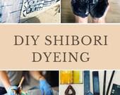 Shibori Dyeing Kit, Indigo dyeing kit, DIY kit, Indigo Tie Dye kit, Textile design kit, Shibori Kit, At home Indigo workshop, DIY Gift set