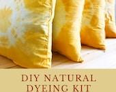Turmeric Dye kit, Natural Dyeing Kit, DIY kit, Turmeric Tie Dye kit, Textile design Kit, craft gift kit, DIY workshop, Stay at home activity