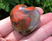Lovely Bloodstone Puff Heart! Bloodstone for Courage! Healing Crystals, Healing Stones