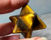 Tiger Eye Merkaba! Tiger Eye For Protection! Lovely shades of Brown & Gold! Mineral Display, Protection Stone