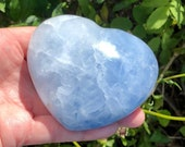Lovely Large Blue Calcite Heart! Mothers Day Gift! Healing Crystals