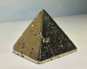 Pyrite Pyramid with openings of Druzy Pyrite Crystals! Grounding and Energizing- create a flow of abundance!