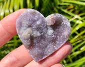 Amethyst Geode Heart! Lavender and Pink Amethyst with Agate Back! Amethyst Geode Heart!